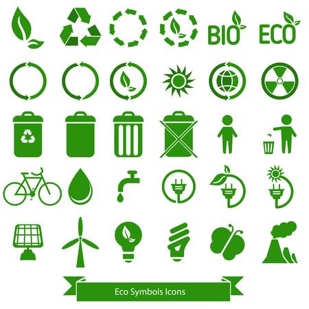 Ecology icons. Reklamní fotografie - 49457594