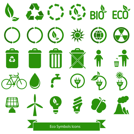 antipollution: Ecology icons.