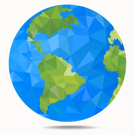 地球惑星の多角形スタイル ベクトル イラスト  イラスト・ベクター素材