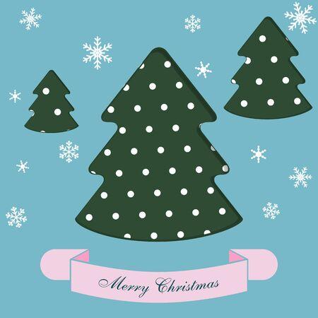 greeting christmas: Christmas tree. Christmas greeting card. Illustration