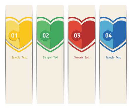 motive: Simple colorful vertical banners - with square motive