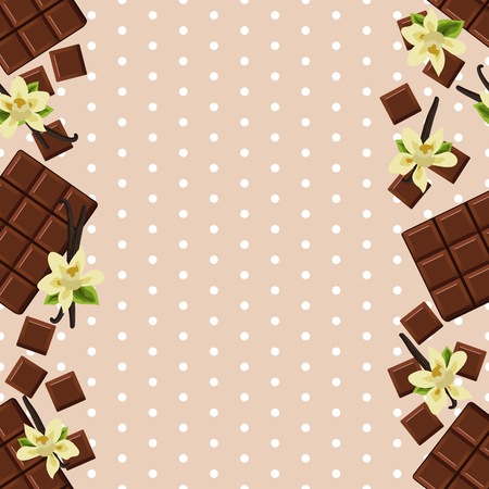 flor de vainilla: Fondo con la flor chocolate y vainilla