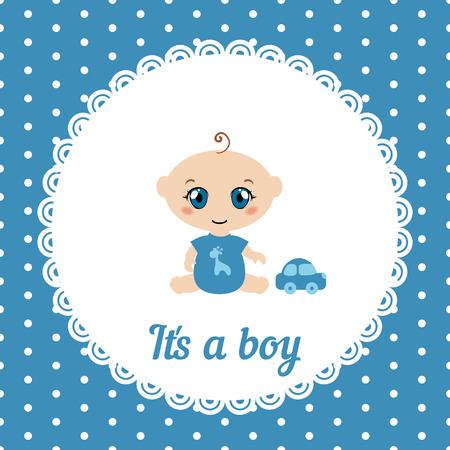 its a boy: Baby boy shower card. Its a boy card.