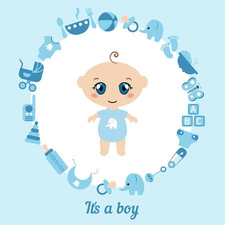baby blue: Baby boy shower card. Its a boy card.