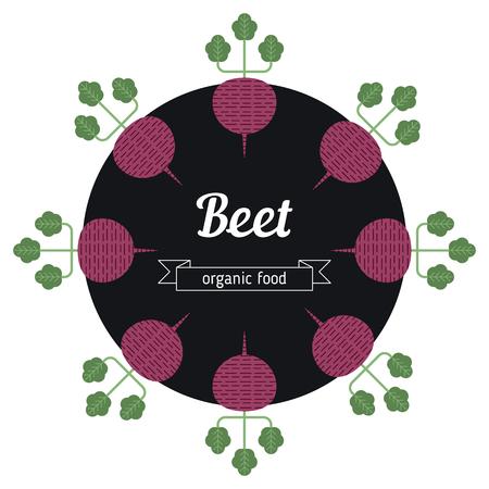 beet: Beet vegetables illustration. Healthy Organic vegetarian food.