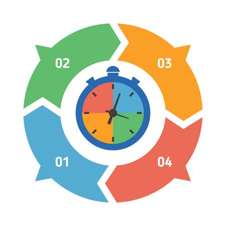 Vector círculo elemento de infografía. Plantilla para la gráfica, la presentación y el gráfico ronda. Fondo abstracto. Ilustración de vector