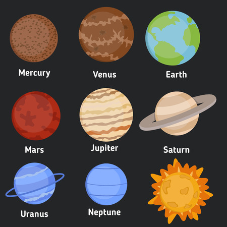 cosmo: Vector illustration of planets our solar system. Illustration