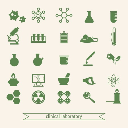 clinical laboratory: Medical and clinical laboratory icons set created for mobile, web and applications