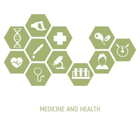 medical technology: Medicine background. Medical technology concept with different symbols.