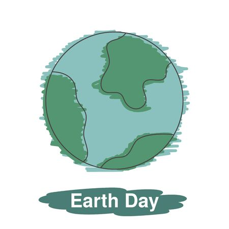 land development: Earth world planet. Earth day illustration.