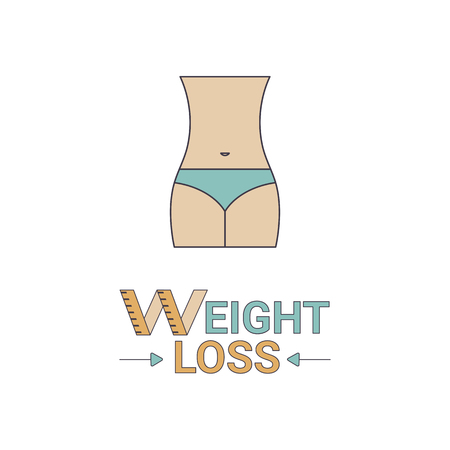 Weight loss icon. Fitness or healthy lifestyle symbol.