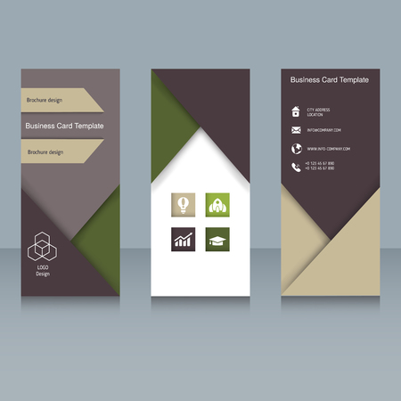 Brochure And Booklet Brochure Designs Easy To Adapt For Trifold - Tri fold business card template