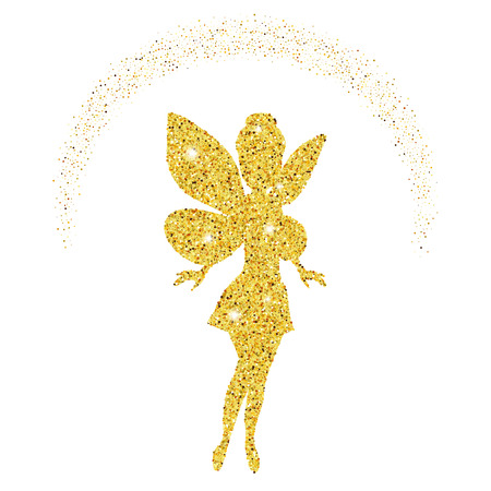 Magical fairy with dust glitters on white background. Фото со стока - 81060671