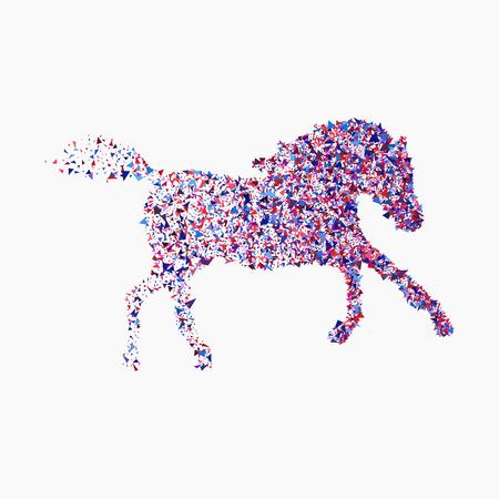 Running horse illustration. Ilustração