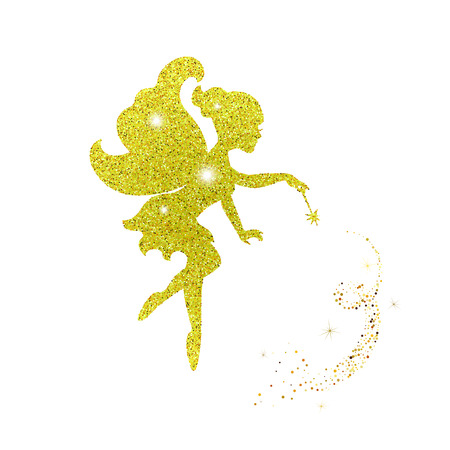 Magical fairy with dust glitters Stock Illustratie