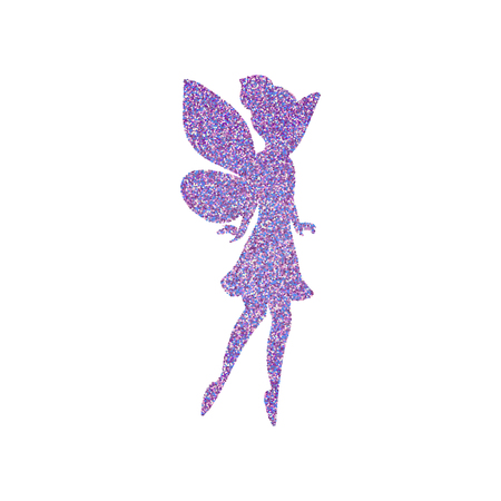 Magical fairy with dust glitters Vectores