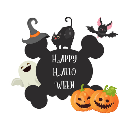 Greeting card with happy halloween message royalty free cliparts happy halloween poster halloween background illustration for party invitation greeting card web m4hsunfo