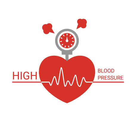 High blood pressure icon. Vector illustration on a white background. Illustration