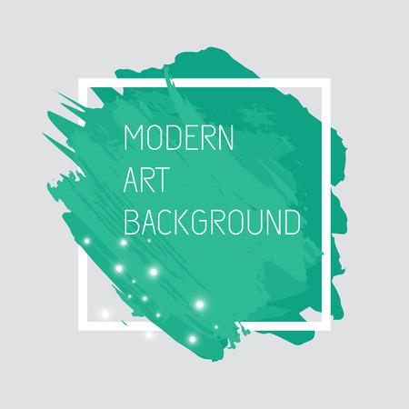 Vector art background with bright stains. Modern art graphics for design card, poster, flyer, brochure et?, Illustration