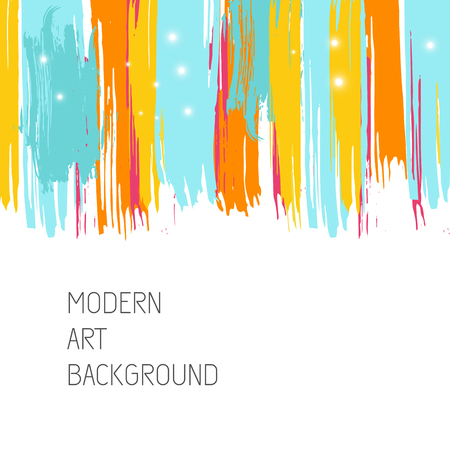 Vector art background with bright stains. Modern art graphics for design card, poster, flyer, brochure et?, Illustration
