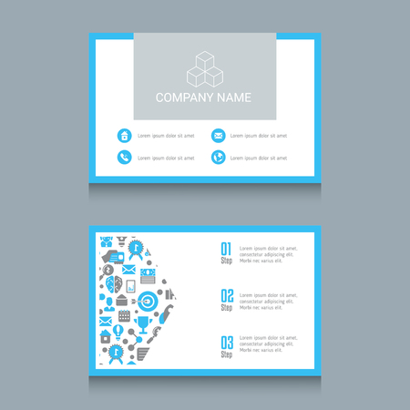 Business card designs. Easy to adapt. Business vector set. 矢量图像