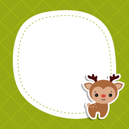 Christmas and new year greeting card with raindeer and space for your text.