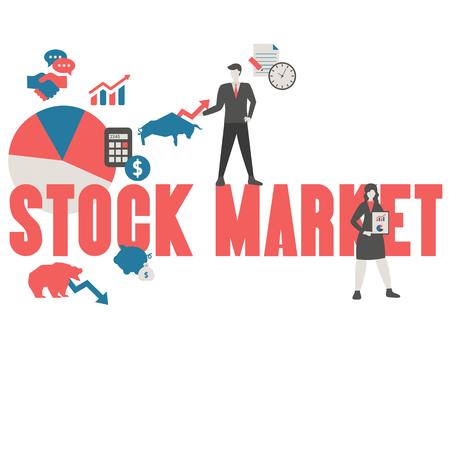 Stock market concept Illustration