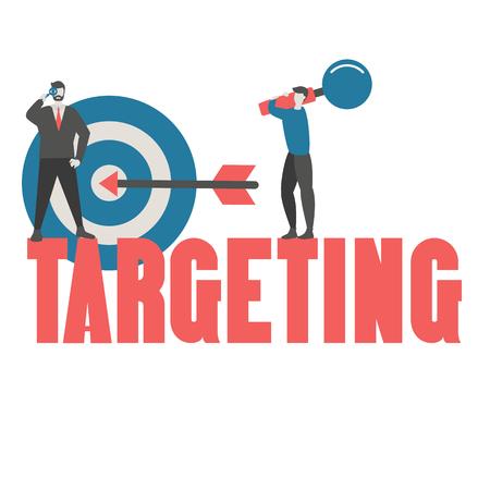 Business target concept. Hit the target, goal achievement. Trendy flat design.