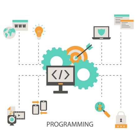 Coding and programming concept.