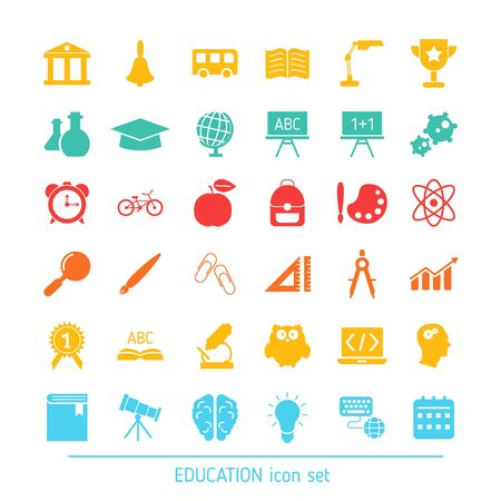 Collection education icons. Education, school and university elements to use in web, smart phone application ets.