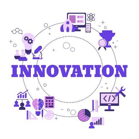 Innovation technology concept with icons. Vector illustration. Reklamní fotografie - 133827954