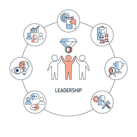 Leadership banner concept with icons. Vector illustration. Stock fotó - 131433280