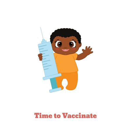 Baby vaccination concept for immunity health. Vector illustration.