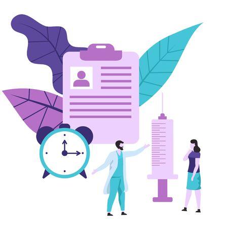 Vaccination concept for immunity health. Vector illustration. Ilustrace