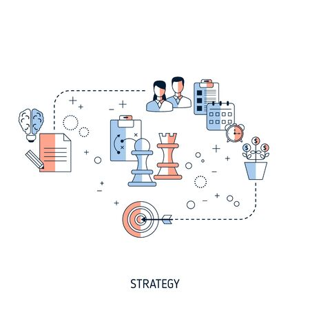 Business Strategy concept. Vector illustration for website, app, banner, etc.
