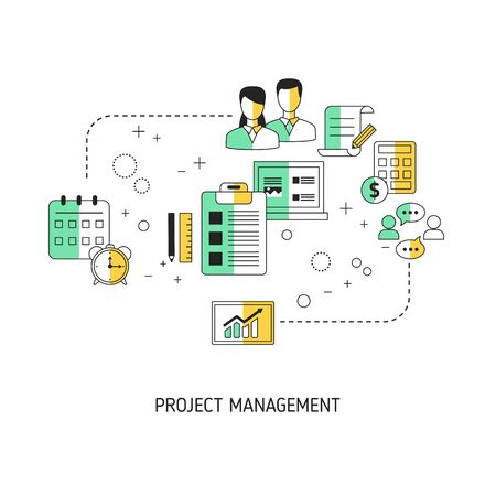 Project management concept. Vector illustration for website, app, banner, etc.