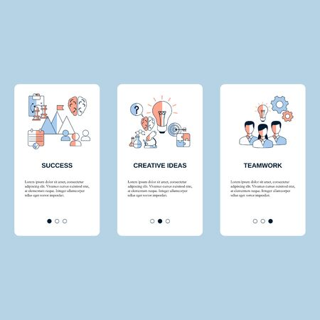 Teamwork, Creative idea and Success concepts concepts for website, mobile website, landing page, ui. Vector template.