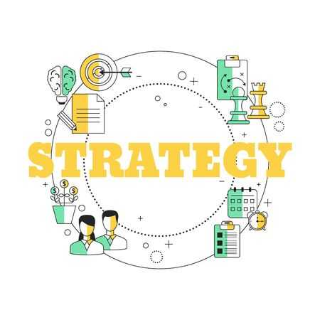 Business Strategy concept. Vector illustration for website, app, banner, etc. Ilustracja