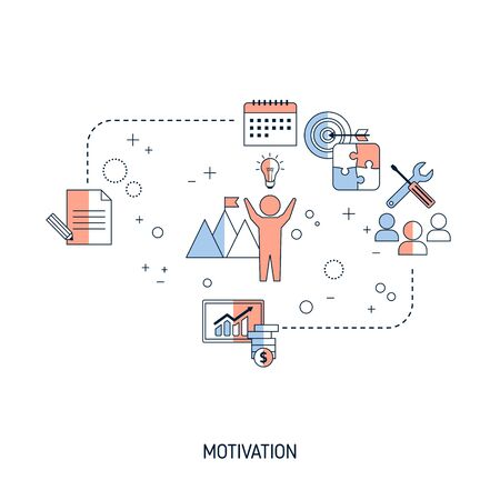 Motivation concept. Vector illustration for website, app, banner, etc.