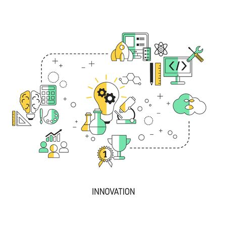 Innovation technology concept with icons. Vector illustration. Vettoriali