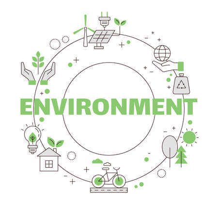 Concept of protecting the natural environment. Protecting our planet. Vector illustration.