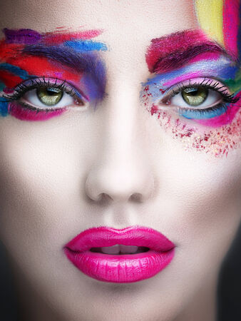 face make up: Surreal beauty Stock Photo