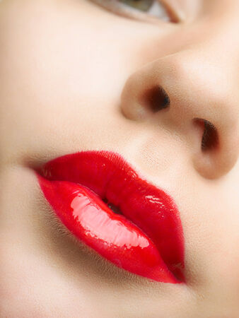 Beautiful red lips photo