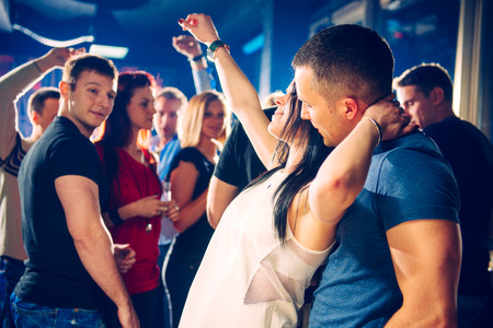 movement people: Party people Stock Photo