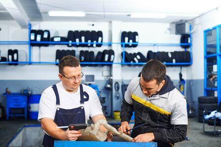shop skill: Mechanics at car service