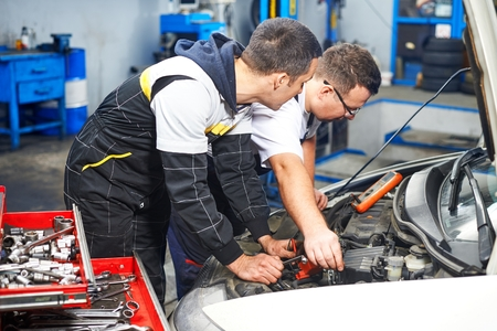 car service: Mechanics at car service