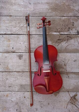Beautiful violin and bow