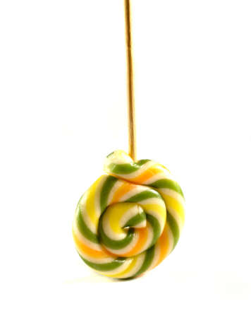 licking: sweet lollipop Stock Photo