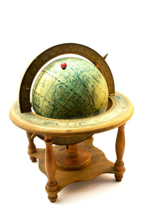 old globe and ladybug photo