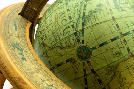 old globe closeup photo